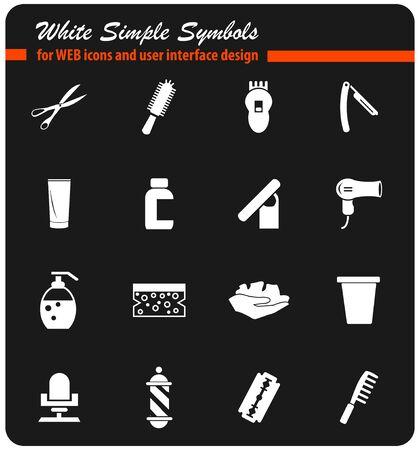 barbershop vector icons for user interface design Illustration