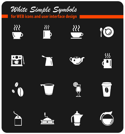 cafe vector icons for user interface design Illustration