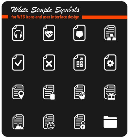 doctor money: documents vector icons for user interface design Illustration