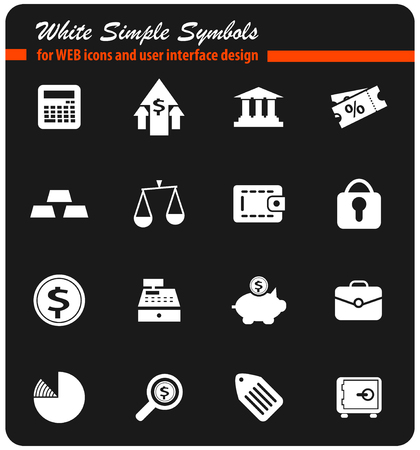 finance vector icons for user interface design