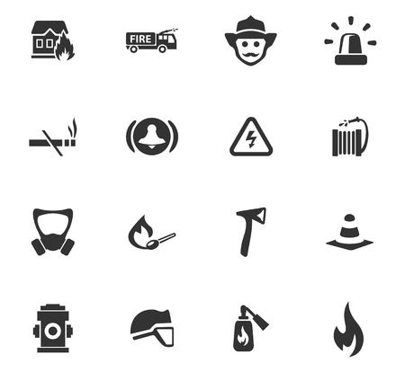 Icone di vigili del fuoco impostate per i siti web e l'interfaccia utente