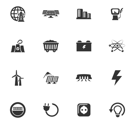 refueling: BIO Fuel industry icons set for web sites and user interface