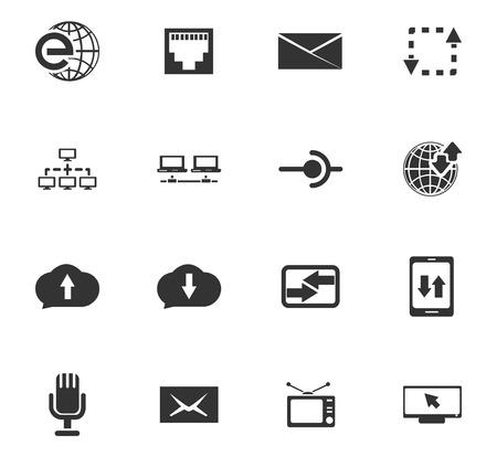웹 사이트 및 사용자 인터페이스 용 통신 아이콘 설정