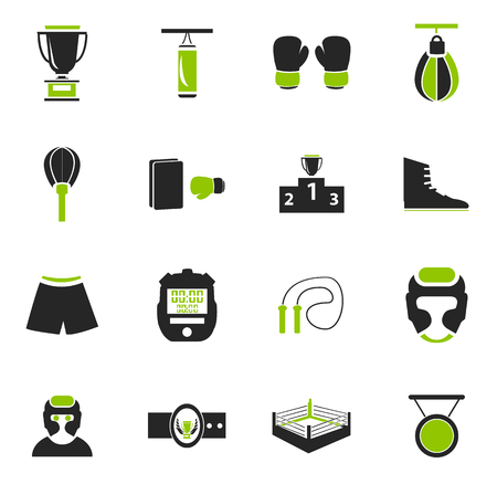 Boxing simply icons for web and user interfaces