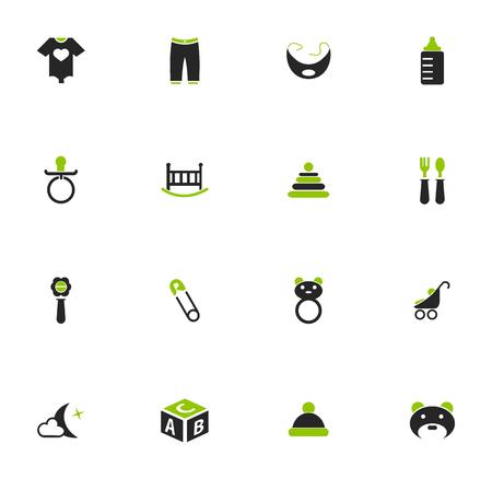 pezones: Baby simplemente iconos para web y interfaces de usuario