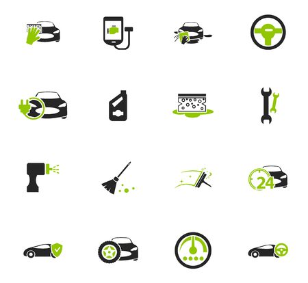 Web サイトのユーザー インターフェイス設定車ショップ アイコン ベクターイラストレーション