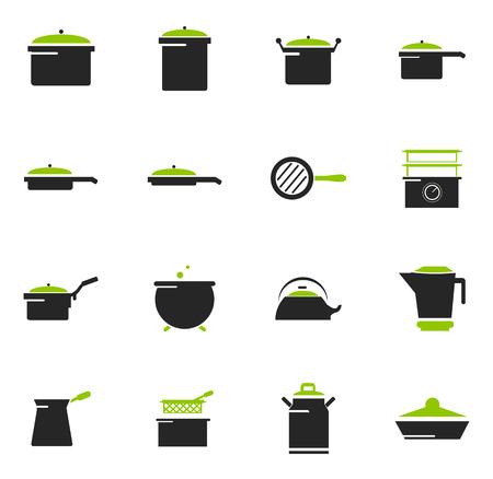 Geschirr Symbole einfach für Web und Benutzeroberflächen Standard-Bild - 74318094