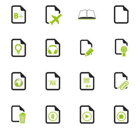 css: Documents icon set for web sites and user interface