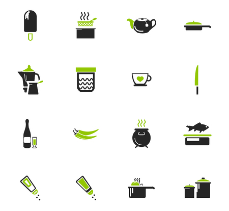 Food and kitchen symbol for web icons