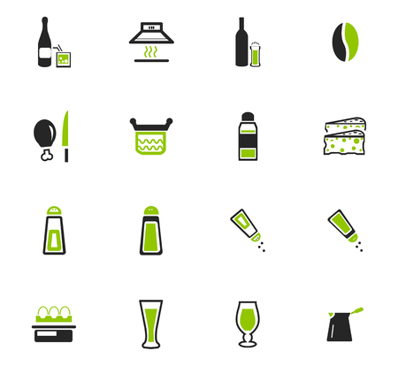 unexpected: Food and kitchen symbol for web icons