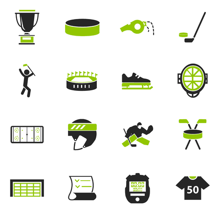 soccer field: Hockey simply icons for web and user interfaces