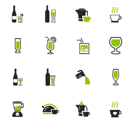 Utensils for the preparation of beverages icon set for web sites and user interface