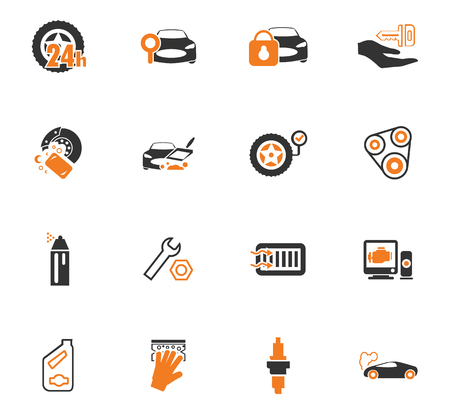 disk break: Car shop icon set for web sites and user interface