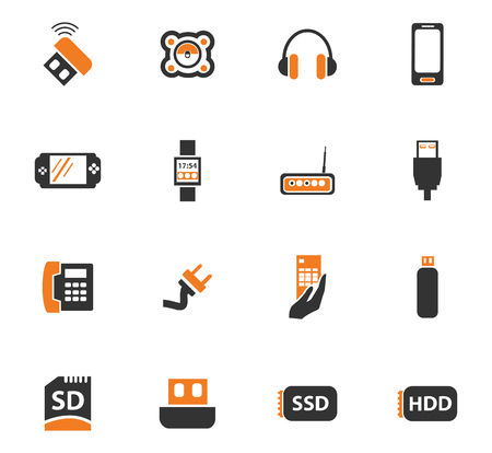 smart card: Devices icon set for web sites and user interface
