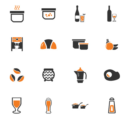 Alimentos y cocina símbolo de iconos de la web