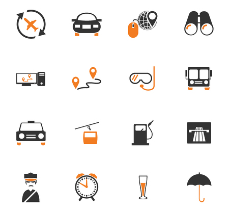 refueling: Travel icon set for web sites and user interface