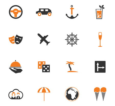 spacing: Travel icon set for web sites and user interface