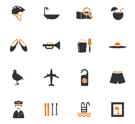 cormorant: Travel icon set for web sites and user interface