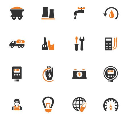 llave de sol: Alternative energy icons set for web sites and user interface