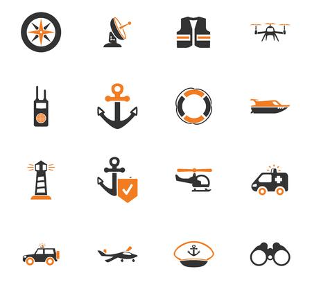 Coast Guard icon ingesteld voor websites en gebruikersinterface Stockfoto - 74328681