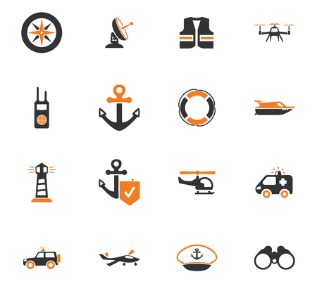 Coast Guard icon set for web sites and user interface