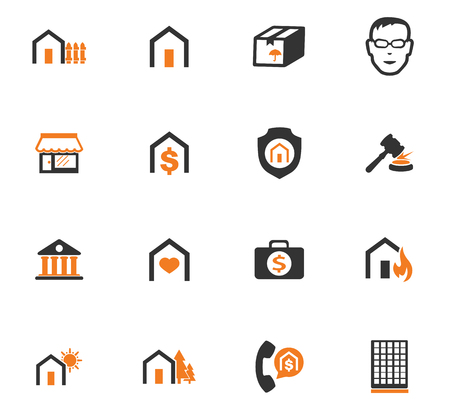 Real estate icons set for web sites and user interface