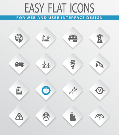 icons: Alternative energy easy flat web icons for user interface design