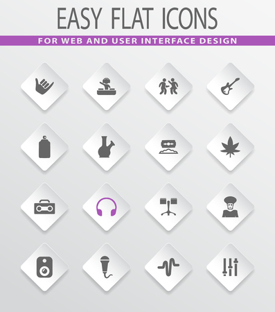 Reggae easy flat web icons for user interface design