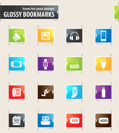 psp: Devices vector bookmark icons for your design Illustration