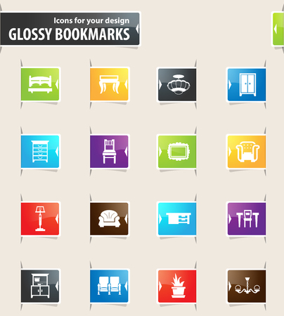 Furniture icon set for web sites and user interface