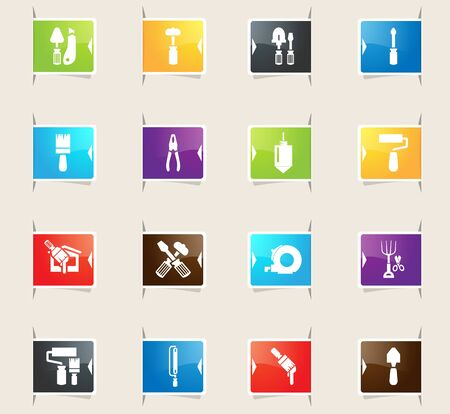 plumb: Work tools vector bookmark icons for your design