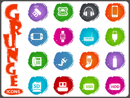 psp: Devices icon set for web sites and user interface
