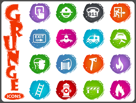 hatchet man: Emergency icon set for web sites and user interface
