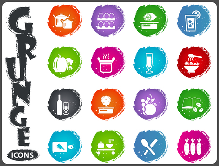 teaspoon: Food and kitchen symbol for web icons in grunge style