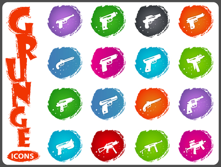 Hand weapons icon set for web sites and user interface