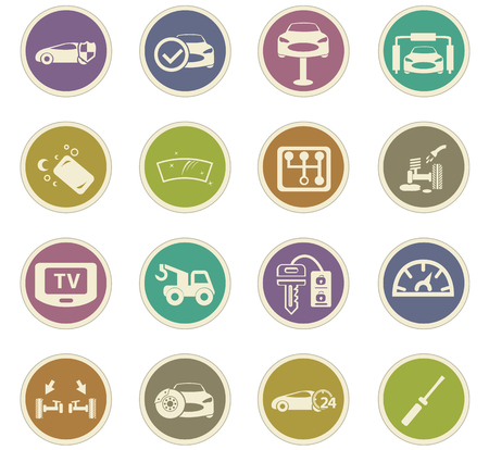 supermarket series: Car shop icon set for web sites and user interface