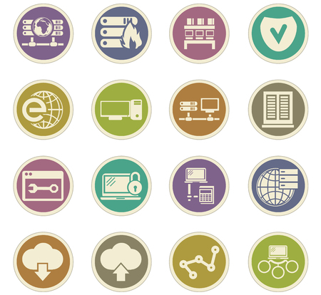 Internet, server, network icon set for web sites and user interface