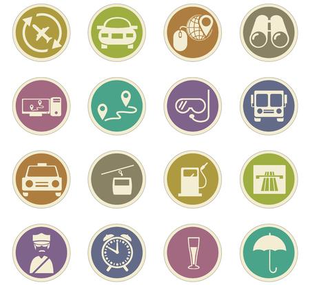Set di icone di viaggio per siti Web e interfaccia utente