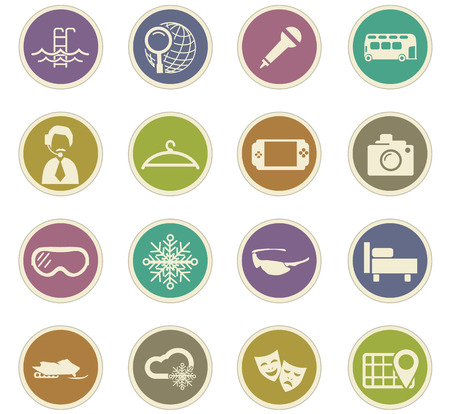 psp: Travel icon set for web sites and user interface