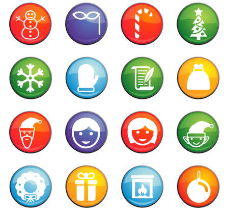 christmass: christmass vector icons for user interface design