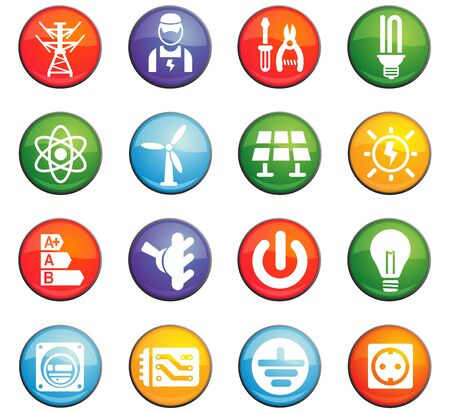 grounding: electricity vector icons for user interface design