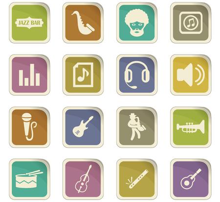 Jazz et musique ensemble icône Blues pour les sites Web et l'interface utilisateur Banque d'images - 74572689