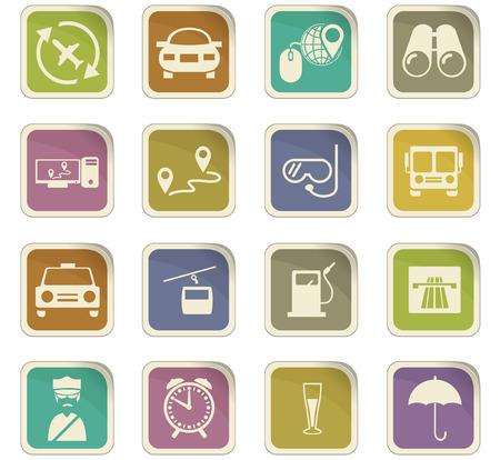 viaggi icon set per i siti web e l'interfaccia utente