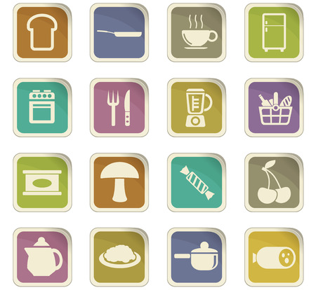 gas stove: kitchen vector icons for user interface design