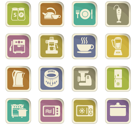 pepperbox: kitchen vector icons for user interface design