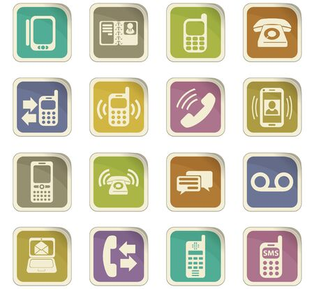 proceeding: phone vector icons for user interface design Illustration