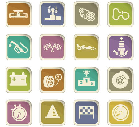 motor car candles: Racing vector icons for user interface design Illustration