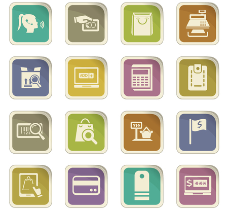 smart card: Illustration of a E-commerce icon set for web sites and user interface Illustration