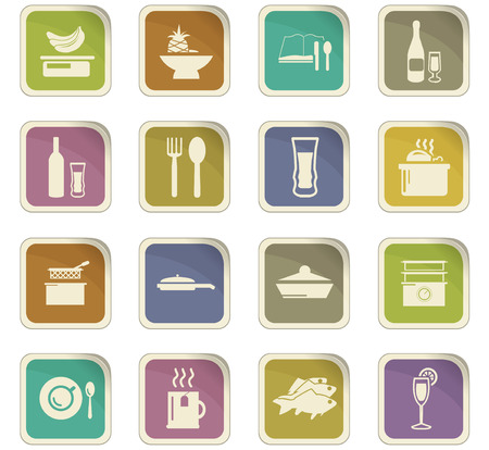 Artistic Food and kitchen symbol for web icons.