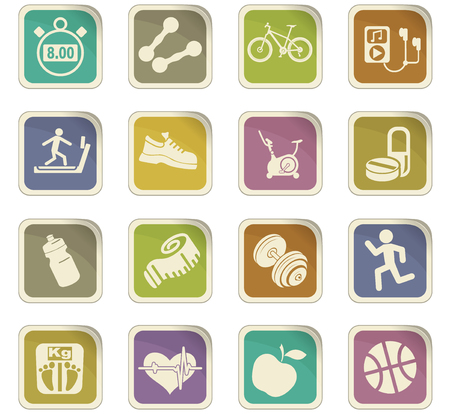 Fitness vector icons for user interface design 版權商用圖片 - 74769411